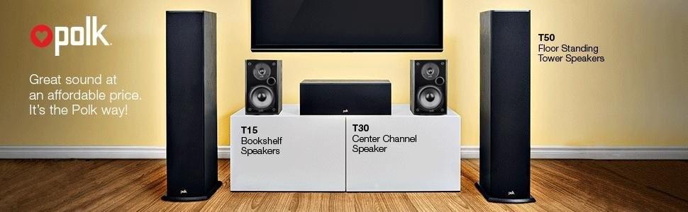 Представляем акустику T-серии от Polk. Серьезные аудиосистемы 5.1 ещё никогда не были так доступны!