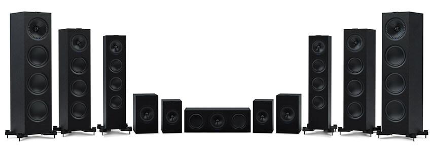 Новый обновленный дизайн акустики серии Q производителя KEF